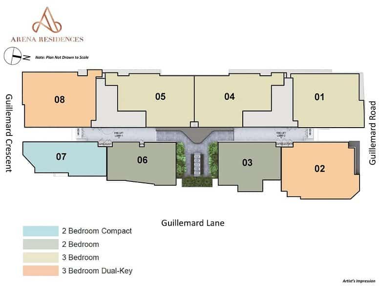 arena-residences-site-plan-singapore