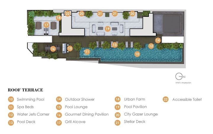 arena-residences-facilities-plan-roof-terrace-singapore