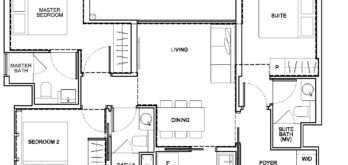 arena-residences-floor-plan-3-bedroom-dual-key-c3-dk-p-singapore